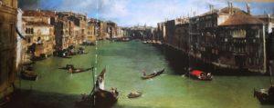 Фото. Каналетто. Большой канал. Венеция. Картина в жанре ведуты