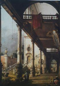 Фото. Каналетто. Палаццо с колоннадой и двориком. Каприччо. 1765
