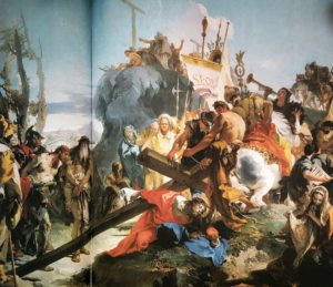 Фото. Джамбаттиста Тьеполо. Путь на Голгофу. Центральная часть триптиха в церкви Сант`Альвизе. 1738-1740