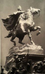 Фото. С.М.Орлов. Проект памятника Суворову. 1960. Глина