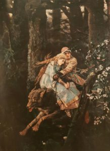 Фото. В.М.Васнецов. Иван-царевич на Сером Волке. 1889