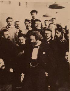 Фото. В академической мастерской Репина. И.Я. Билибин крайний справа (с бородкой). Фото начала 1900-ых