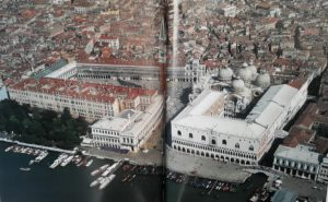 Фото. Аэрофотосъемка. Дворец дожей. Купола Собора Сан-Марко