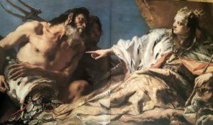 Фото. Дж. Тьеполо. Нептун приносит дары Венеции (фрагмент)