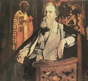 Фото. Нестеров. Портрет В.М.Васнецова. 1925