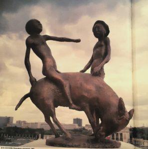 Фото. В.Б.Соскиев. Мальчики с осликом. 1982