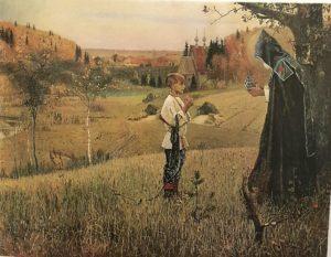 Фото. М.В.Нестеров. Видение отроку Варфоломею. 1889-1890