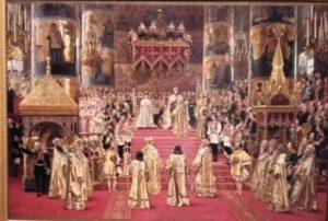 Фото. Ж.Беккер. Коронация Александра III и Марии Федоровны. 1888.