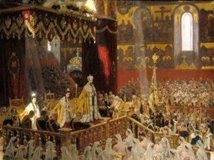 Фото. Л.-Р.Туксен. Коронация Николая II и Александры Федоровны. 1898