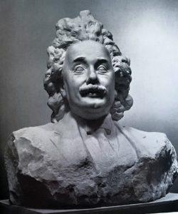 Коненков. Альберт Эйнштейн. 1936. Гипс тонированный