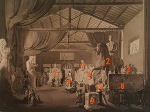 Картина Дитлева с номерами скульптурных композиций