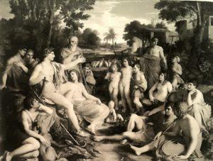 Кристиан Готтлиб Шик. Аполлон среди пастухов Фессалии. 1808. Штутгарт