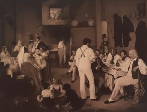 Дитлев Конрад Бланк. Датские художники в таверне La Gensola в Трастевере. 1837. Копенгаген. Музей Торвальдсена