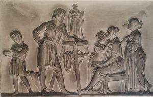 Торвальдсен. Торвальдсен в Нисо с семейством Стэмп. 1840. Копенгаген. Музей Торвальдсена