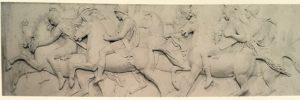 Фиг.8. Барельеф с античной конницей. Фрагмент фриза «Триумф Александра Македонского в Вавилоне». 1818-1828 (модель 1812). Тремеццо, вилла Карлотта
