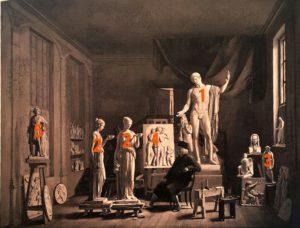 Фердинанд Ричард. Торвальдсен в студии в Шарлотенборге. 1840. Копенгаген. Музей Торвальдсена