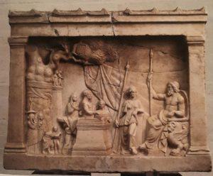 Вотивный рельеф. 200 год до н.э. Высота 61 см. Мюнхенская глиптотека