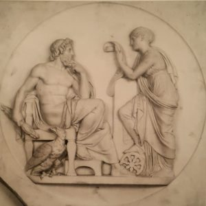 Торвальдсен. Немезида читает Юпитеру факты из человеческой истории. По модели 1810. Милан. Пинакотека Амброзиана