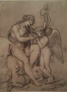 Торвальдсен. Амур у Вакха (Вакх предлагает Амуру выпить). 1807. Музей Торвальдсена.