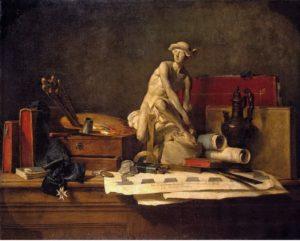 Жан Батист Шарден. Атрибуты искусства. 1766. Государственный Эрмитаж