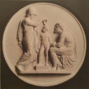 Торвальдсен. Минерва (Афина), оживляющая глиняную модель человека, созданную Прометеем. 1840 (по модели 1807-1808). Музей Торвальдсена. Копенгаген