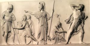 Торвальдсен. Минерва доставляет оружие Ахилла (убиенного) Одиссею. 1831. Музей Торвальдсена