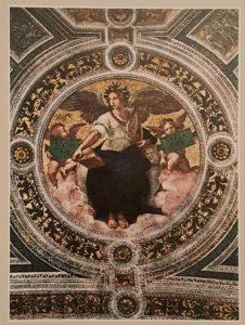 Рафаэль. Фигура поэзии. Фрагмент росписи свода Станцы (комнаты) делла Сеньятура в Ватикане