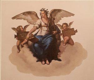 А.Виги. Фигура «Поэзии». Роспись Малахитового зала в Зимнем Дворце. 1838