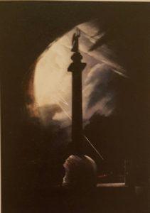 В.Е.Раев. Александровская колонна в грозу. 1834. Холст, масло. Государственный Русский музей