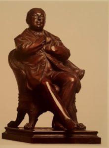 Нордгейм Август (1813-1884). Портрет В.А.Жуковского в кресле. Статуэтка из меди. Высота 46 см