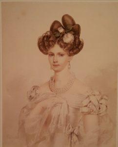 П.Ф.Соколов. Портрет императрицы Александры Федоровны. 1820-е годы, ей двадцать с чем-то лет. Эрмитаж