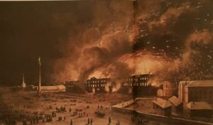 П.М.Ж.Верне. Пожар Зимнего Дворца. 1838. Холст, масло. Эрмитаж