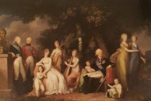 Г. фон Кюгельхен. Портрет семьи императора Павла I. Около 1800. Холст, масло. Павловск.