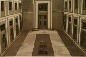 Двор с могилой Торвальдсена в Музее Торвальдсена. Копенгаген