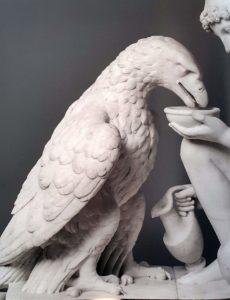 Торвальдсен. Ганимед поит орла. Мрамор. 1817 (модель). Фрагмент. Музей Торвальдсена. Копенгаген