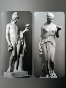 Торвальдсен. Слева «Ганимед». 1804. Копенгаген. Музей Торвальдсена