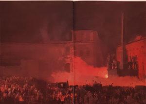 Брюллов. Политическая демонстрация в Риме в 1846. Эскиз 1850