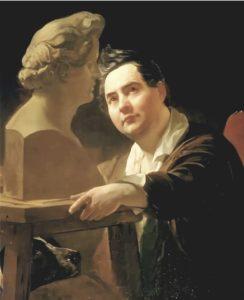 Брюллов. Портрет И.П.Витали. 1837. Витали изображен во время работы того самого бюста Брюллова, по которому Щурупов и делал памятник Брюллову