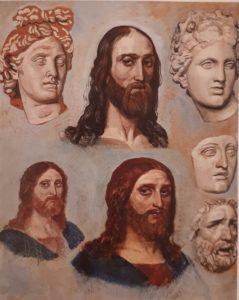 А.Иванов. Голова Аполлона и голова Христа. Этюд. 1830-184-ые год
