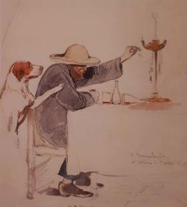 Штернберг В.И. Александр Иванов за обедом. 1842 Третьяковская галерея. Что, интересно, пьет сам Иванов: кефир, компот или вино (выберите правильный ответ)