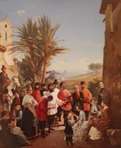 А.И.Иванов (голубой). Русские песенники в Риме. 1862. Третьяковская галерея. Москва
