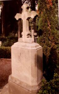 Могила художника М.И.Лебедева (1811-1837) на кладбище Монте-Тестаччо в наше время. Из всех русских пенсионеров в Риме умер первым