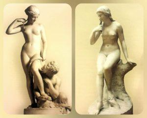 Ставассер. Слева «Нимфа», справа «Русалка», которая по виду повзрослее будет, хотя обе 1845 года рождения (шутка). Однако, и младшенькая «Нимфа» уже знает себе цену