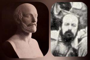 Справа. Фото Ставассера 1845 года. Слева. Бюст Ставассера работы Самонетти 1851 год