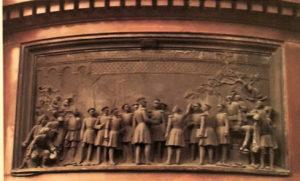 Рамазанов. Открытие Веребьинского моста в 1851 году. Рельеф постамента памятника Николаю I скульптора П.К.Клодта