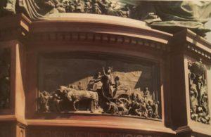 Рамазанов. Николай I на Сенной площади в 1831 году во время эпидемии холеры. Рельеф постамента памятника Николаю I скульптора П.К.Клодта