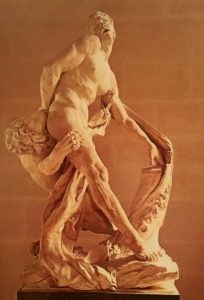 П.Пюже. Милон Кротонский. 1682. Мрамор. Лувр. Париж. Двор Пюже
