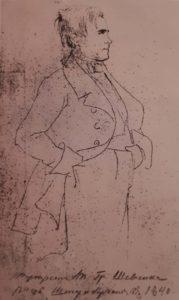 Штернберг. Портрет Т.Г.Шевченко. 1840