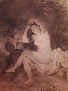 Шевченко. Вирсавия. Офорт. 1860. С картины Брюллова