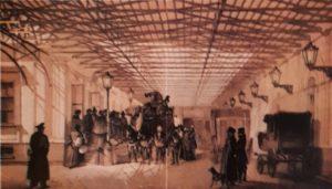 Дилижанс, курсировавший между Москвой и Петербургом. Литография. Середина XIX века